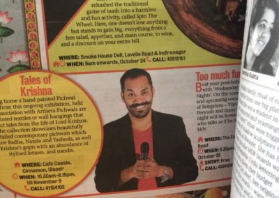 Mayandi Standup Comedian Bangalore | Featured in Bangalore Mirror Newspaper