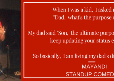 Mayandi Stand up comedian Bangalore | Humor Bits
