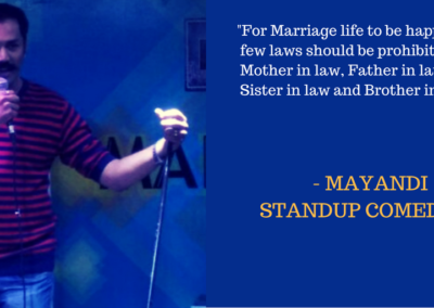 Mayandi standup comedian bangalore MARRIAGE quotes2