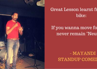 Mayandi standup comedian bangalore PHILOSOPHY quotes2