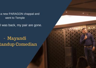 Mayandi standup comedian bangalore professional quotes