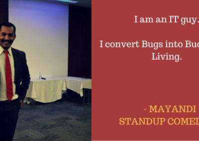 Mayandi standup comedian bangalore professional quotes5