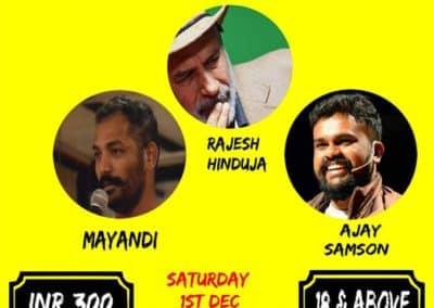 Mayandi Standup comedian Bangalore Backyard cafe show chennai
