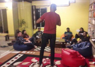 While Performing at Dialogues Cafe JP Nagar