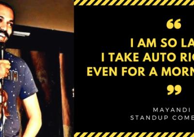 Mayandi Standup Comedian Bangalore  | Lazy Quote | Humor bits