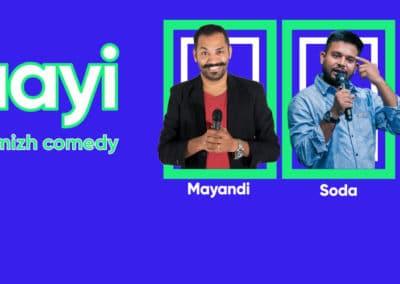 Mayandi standup comedian bangalore Counterculture
