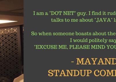 Mayandi standup comedian bangalore | HUMOR bit