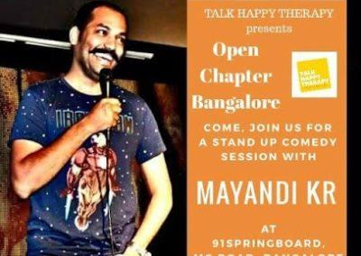 Mayandi Standup Comedian bangalore | Talk Happy Therapy