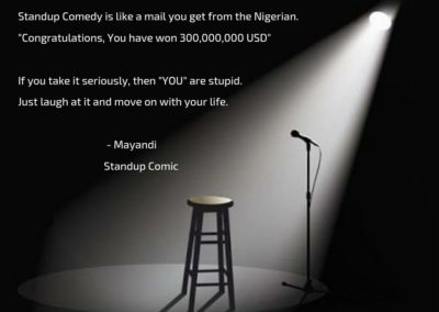Standup comedy quote | Stand up comedian in Bangalore