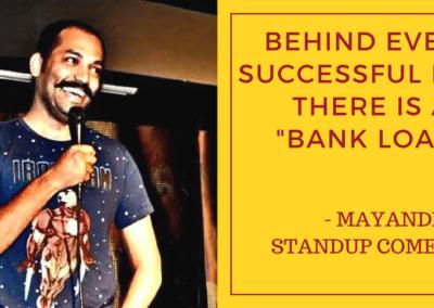 Mayandi standup comedian bangalore PHILOSOPHY quotes4