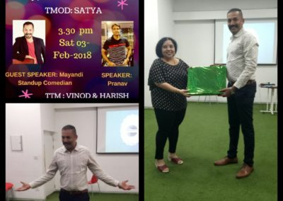Mayandi Standup Comedian Bangalore Show  | Guest for Toastmasters